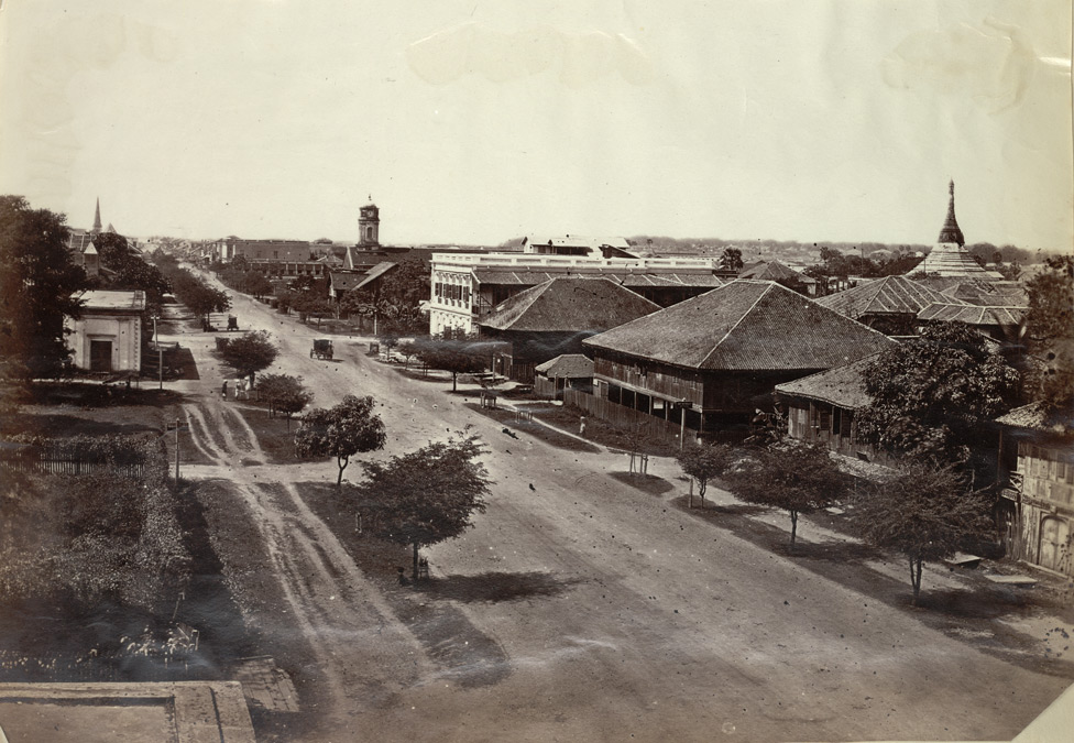 View of Merchant Street, Rangoon 3551160